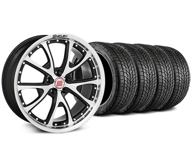 Shelby CS40 Black Machined Wheel & BF Goodrich G-FORCE COMP 2 Tire Kit - 20x9 (05-14 All)