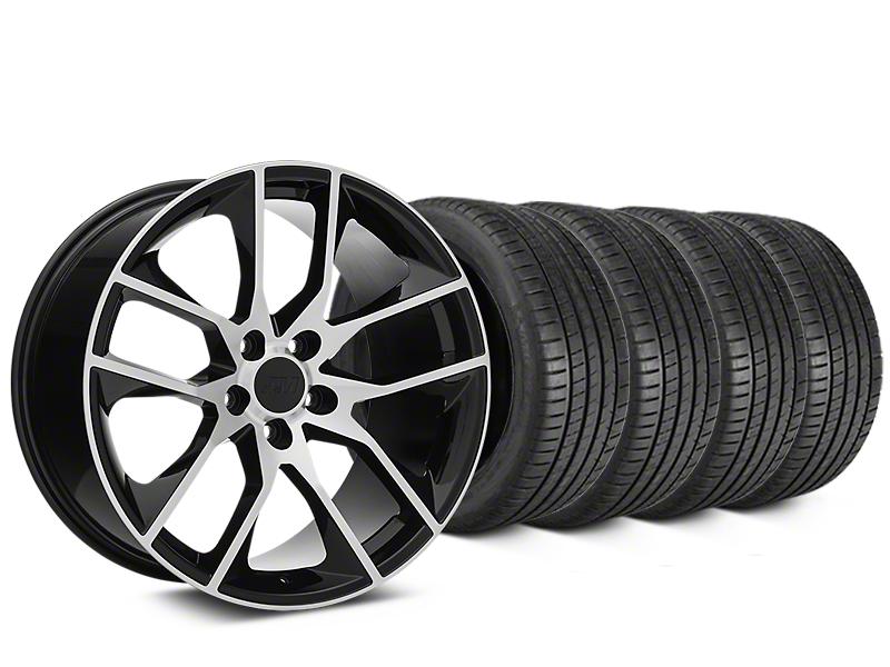 Magnetic Style Black Machined Wheel & Michelin Pilot Super Sport Tire Kit - 20x8.5 (05-14 All)