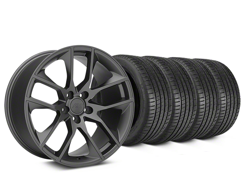 Magnetic Style Charcoal Wheel & Michelin Pilot Super Sport Tire Kit - 20x8.5 (05-14 All)
