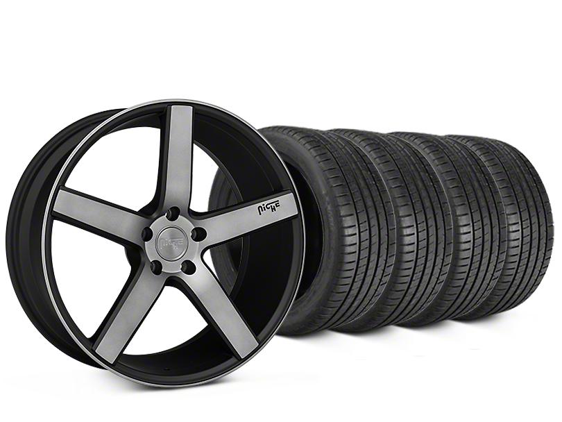 Niche Milan Matte Black Machined Wheel & Michelin Pilot Super Sport Tire Kit - 20x8.5 (05-14 All)