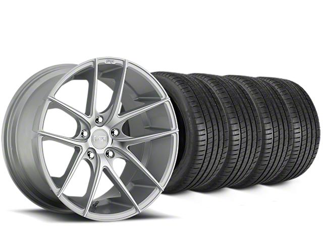 Niche Targa Matte Silver Wheel & Michelin Pilot Super Sport Tire Kit - 20x8.5 (05-14 All)