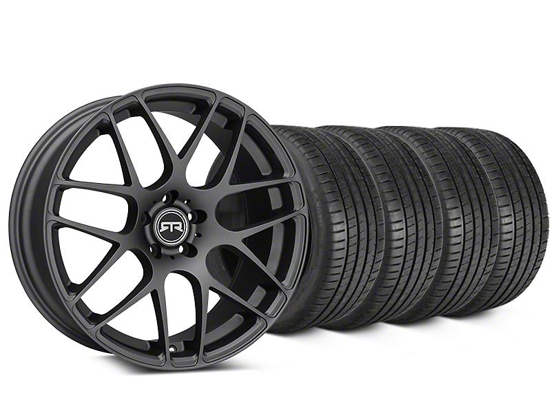 RTR Charcoal Wheel & Michelin Pilot Super Sport Tire Kit - 20x9 (05-14 All)