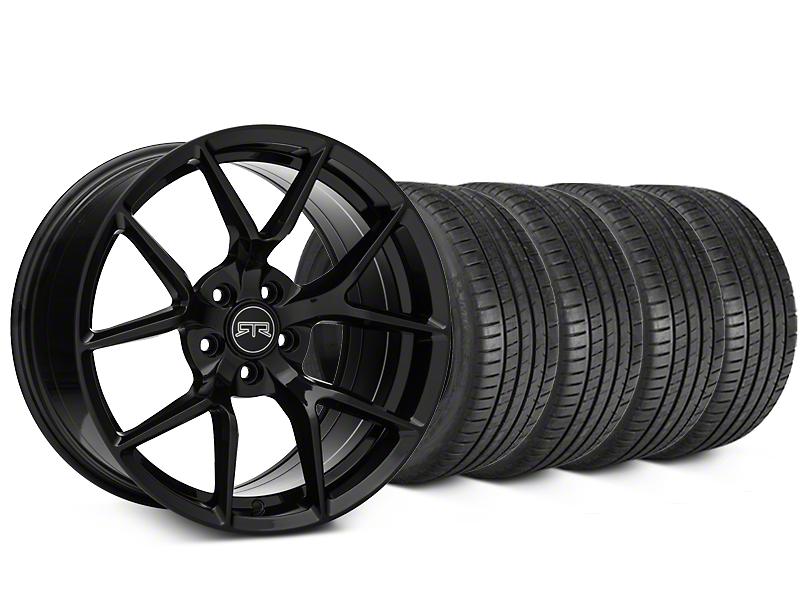 RTR Tech 5 Black Wheel & Michelin Pilot Super Sport Tire Kit - 20x9.5 (05-14 All)