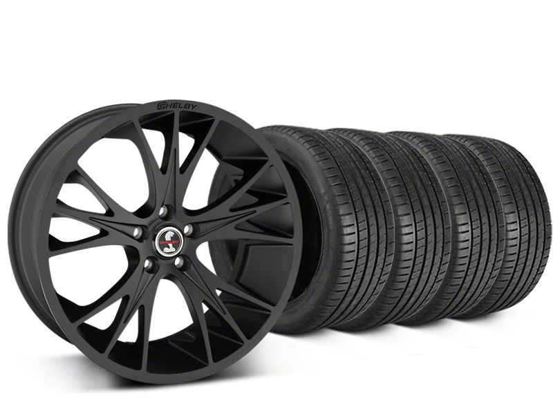 Shelby CS1 Matte Black Wheel & Michelin Pilot Super Sport Tire Kit - 20x9 (05-14 All)