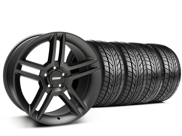 2010 GT500 Style Matte Black Wheel & NITTO NT555 G2 Tire Kit - 19x8.5 (15-19 GT, EcoBoost, V6)