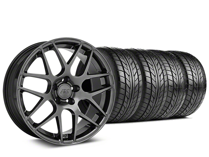 AMR Dark Stainless Wheel & NITTO NT555 G2 Tire Kit - 19x8.5 (15-18 All)