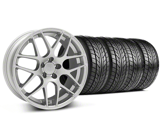 AMR Silver Wheel & NITTO NT555 G2 Tire Kit - 19x8.5 (15-18 GT, EcoBoost, V6)