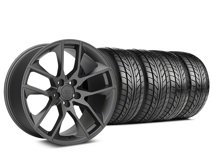 Magnetic Style Charcoal Wheel & NITTO NT555 G2 Tire Kit - 19x8.5 (15-19 GT, EcoBoost, V6)