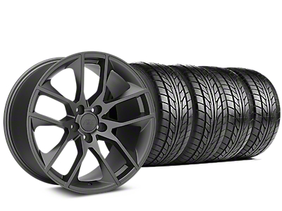 Magnetic Style Charcoal Wheel & NITTO NT555 G2 Tire Kit - 19x8.5 (15-18 GT, EcoBoost, V6)