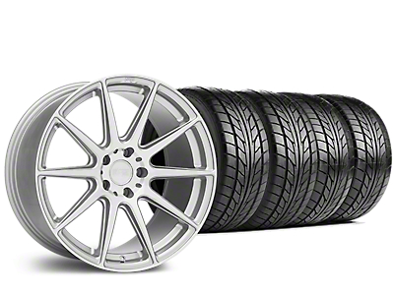Niche Essen Silver Wheel & NITTO NT555 G2 Tire Kit - 19x8.5 (15-19 GT, EcoBoost, V6)
