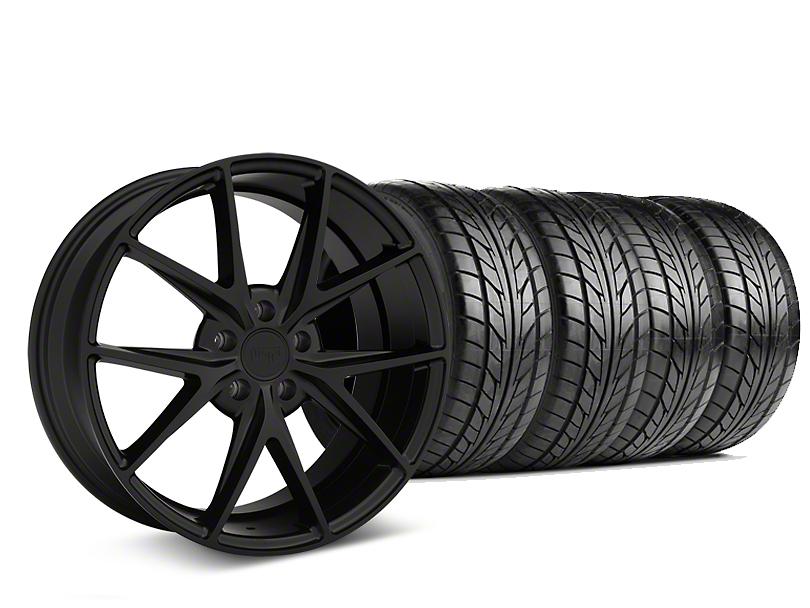 Niche Misano Matte Black Wheel and NITTO NT555 G2 Tire Kit; 19x8.5 (15-20 GT, EcoBoost, V6)