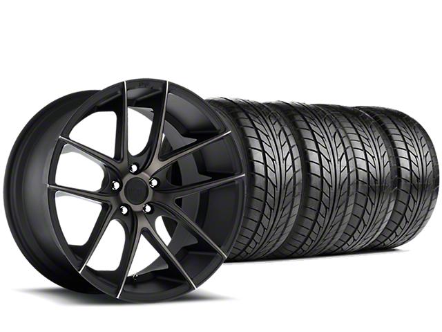 Niche Targa Matte Black Wheel & NITTO NT555 G2 Tire Kit - 19x8.5 (15-18 GT, EcoBoost, V6)