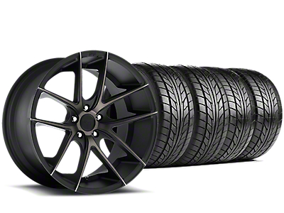 Niche Targa Matte Black Wheel & NITTO NT555 G2 Tire Kit - 19x8.5 (15-18 GT, EcoBoost, V6)