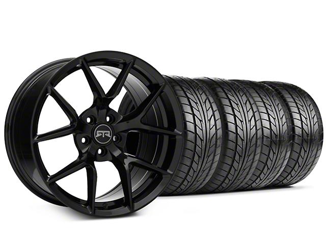 RTR Tech 5 Black Wheel & NITTO NT555 G2 Tire Kit - 19x9.5 (15-18 GT, EcoBoost, V6)