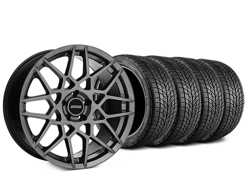 2013 GT500 Style Hyper Dark Wheel & BF Goodrich G-FORCE COMP 2 Tire Kit - 19x8.5 (15-17 All)
