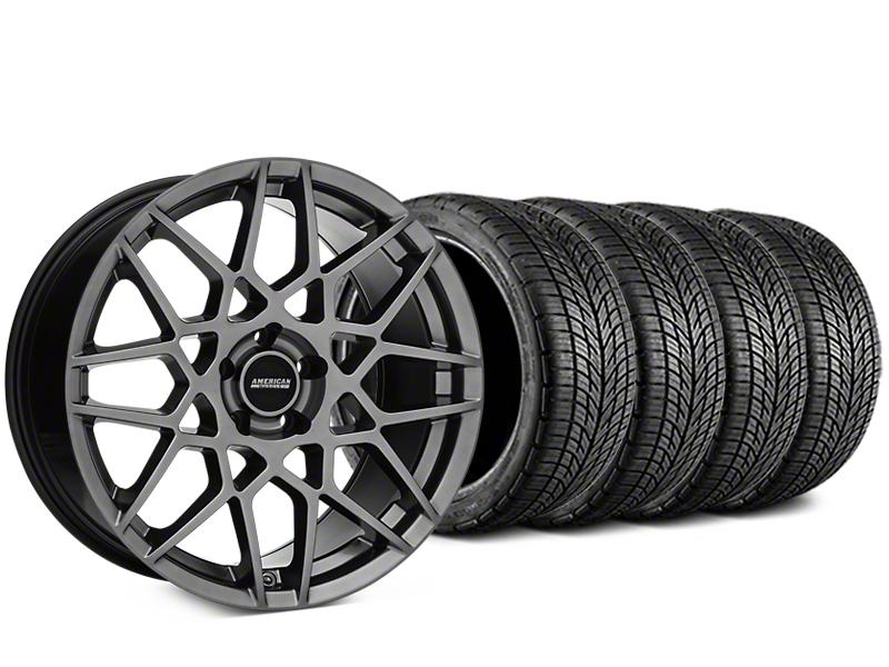 2013 GT500 Style Hyper Dark Wheel & BF Goodrich G-FORCE COMP 2 Tire Kit - 19x8.5 (15-17 All)