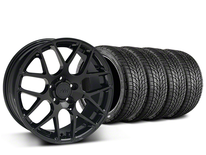 AMR Black Wheel & BF Goodrich G-FORCE COMP 2 Tire Kit - 19x8.5 (15-18 GT, EcoBoost, V6)