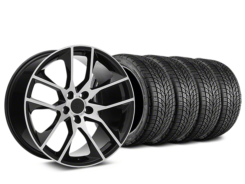 Magnetic Style Black Machined Wheel & BF Goodrich G-FORCE COMP 2 Tire Kit - 19x8.5 (15-19 GT, EcoBoost, V6)