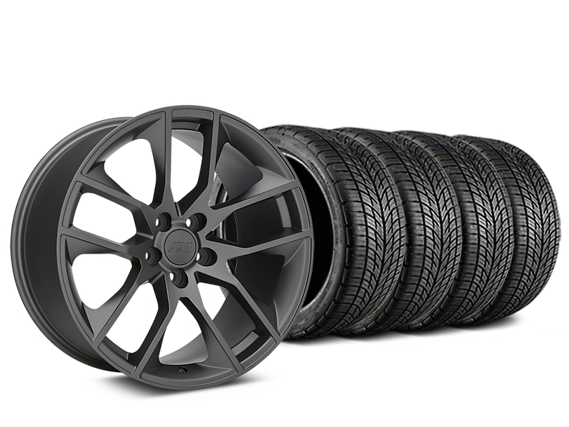 Magnetic Style Charcoal Wheel & BF Goodrich G-FORCE COMP 2 Tire Kit - 19x8.5 (15-17 All)