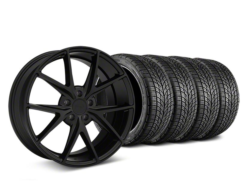 Niche Misano Matte Black Wheel & BF Goodrich G-FORCE COMP 2 Tire Kit - 19x8.5 (15-17 All)