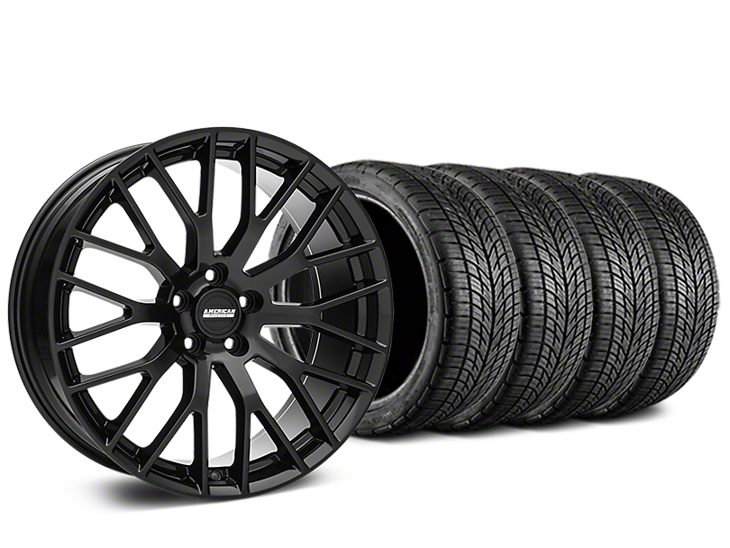 Performance Pack Style Black Wheel & BF Goodrich G-FORCE COMP 2 Tire Kit - 19x8.5 (15-18 All)