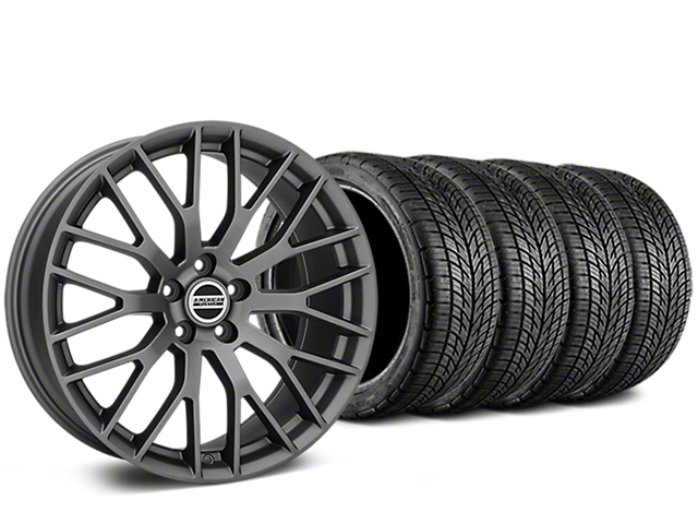 Performance Pack Style Charcoal Wheel & BF Goodrich G-FORCE COMP 2 Tire Kit - 19x8.5 (15-19 All)