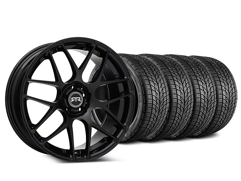 RTR Black Wheel & BF Goodrich G-FORCE COMP 2 Tire Kit - 19x8.5 (15-18 GT, EcoBoost, V6)