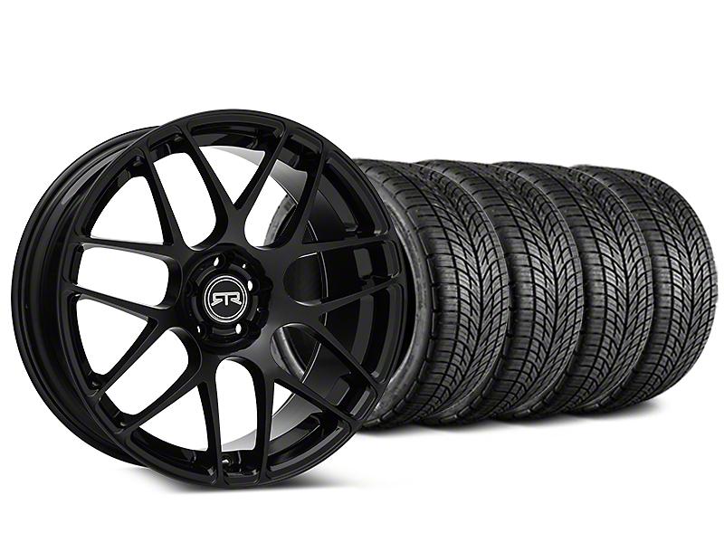 RTR Black Wheel & BF Goodrich G-FORCE COMP 2 Tire Kit - 19x8.5 (15-19 GT, EcoBoost, V6)