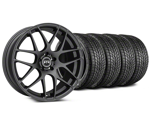 RTR Charcoal Wheel & BF Goodrich G-FORCE COMP 2 Tire Kit - 19x8.5 (15-18 GT, EcoBoost, V6)