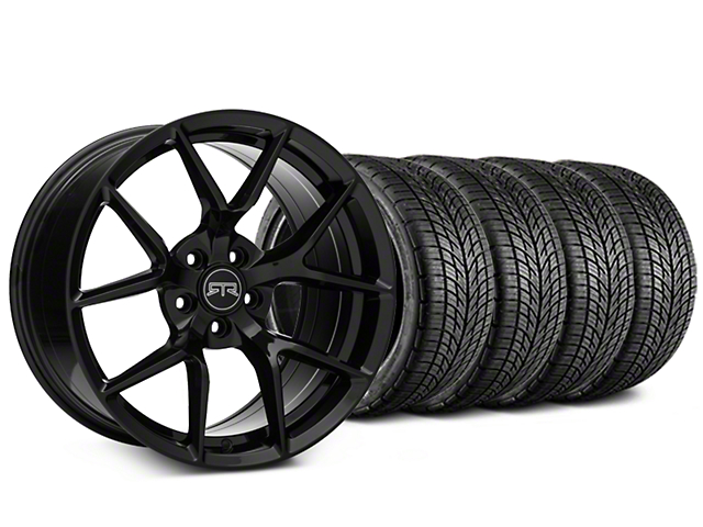 RTR Tech 5 Black Wheel & BF Goodrich G-FORCE COMP 2 Tire Kit - 19x9.5 (15-18 GT, EcoBoost, V6)