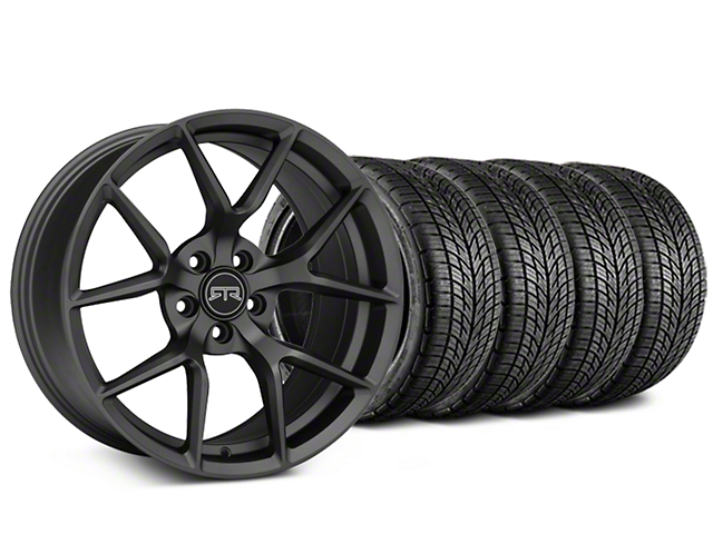 RTR Tech 5 Charcoal Wheel & BF Goodrich G-FORCE COMP 2 Tire Kit - 19x9.5 (15-19 GT, EcoBoost, V6)