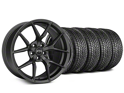 RTR Tech 5 Charcoal Wheel & BF Goodrich G-FORCE COMP 2 Tire Kit - 19x9.5 (15-18 GT, EcoBoost, V6)