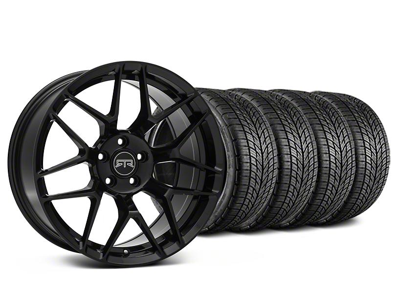 RTR Tech 7 Black Wheel & BF Goodrich G-FORCE COMP 2 Tire Kit - 19x9.5 (15-19 GT, EcoBoost, V6)