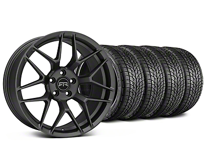 RTR Tech 7 Charcoal Wheel & BF Goodrich G-FORCE COMP 2 Tire Kit - 19x9.5 (15-19 GT, EcoBoost, V6)