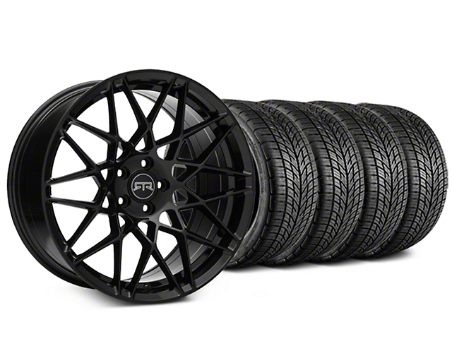 RTR Tech Mesh Black Wheel & BF Goodrich G-FORCE COMP 2 Tire Kit - 19x9.5 (15-17 All)
