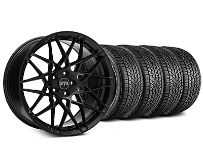 RTR Tech Mesh Black Wheel & BF Goodrich G-FORCE COMP 2 Tire Kit - 19x9.5 (15-19 GT, EcoBoost, V6)