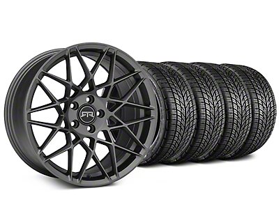 RTR Tech Mesh Charcoal Wheel & BF Goodrich G-FORCE COMP 2 Tire Kit - 19x9.5 (15-19 GT, EcoBoost, V6)