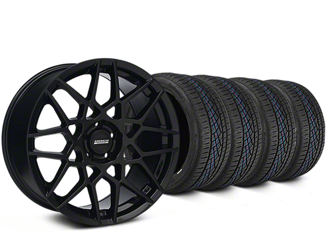 2013 GT500 Style Gloss Black Wheel & Continental Extreme Contact DWS06 Tire Kit - 19x8.5 (15-17 GT, EcoBoost, V6)