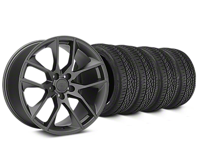 Magnetic Style Charcoal Wheel & Continental Extreme Contact DWS06 Tire Kit - 19x8.5 (15-18 All)