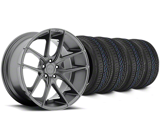 Niche Targa Matte Anthracite Wheel & Continental Extreme Contact DWS06 Tire Kit - 19x8 (15-18 All)