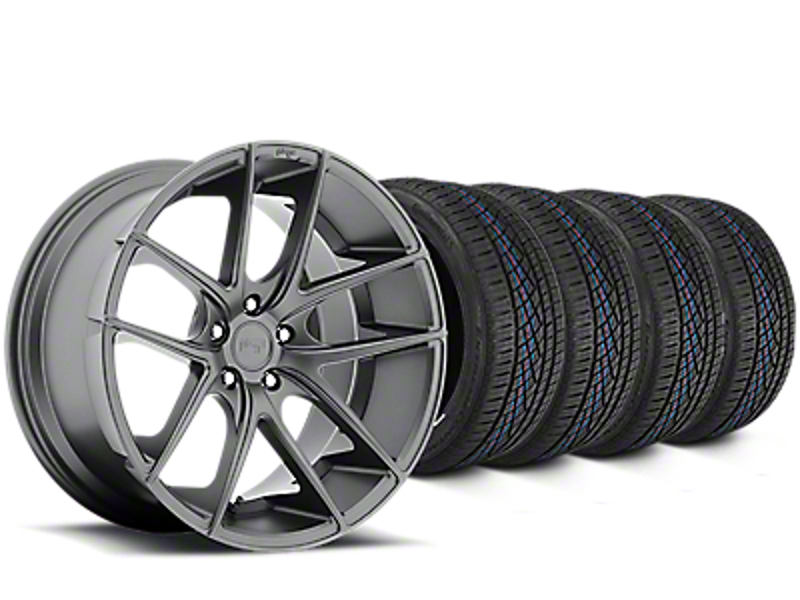 Niche Targa Matte Anthracite Wheel & Continental Extreme Contact DWS06 Tire Kit - 19x8 (15-19 All)