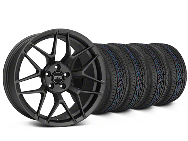 RTR Tech 7 Charcoal Wheel & Continental Extreme Contact DWS06 Tire Kit - 19x9.5 (15-18 GT, EcoBoost, V6)