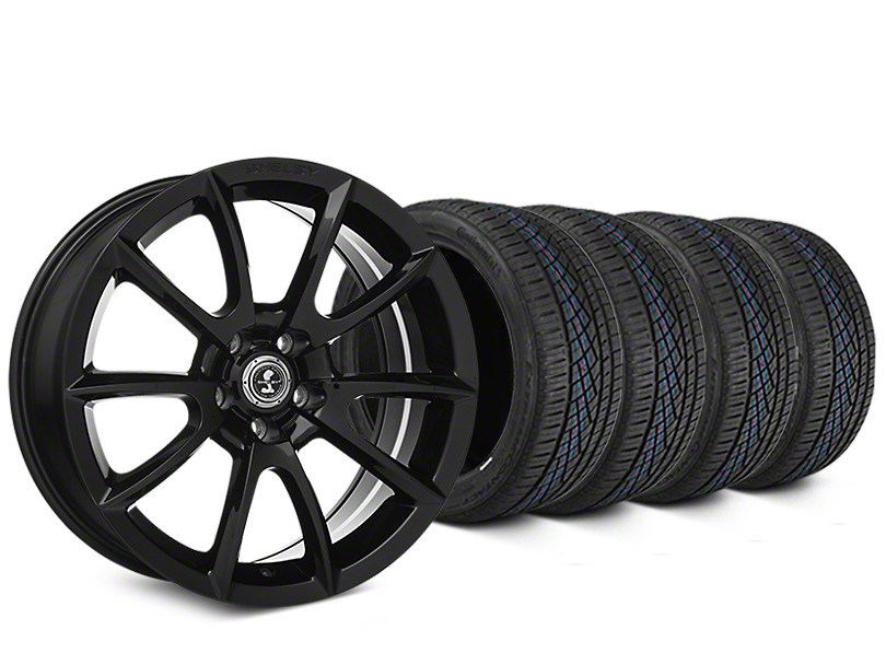 Shelby Super Snake Style Black Wheel & Continental Extreme Contact DWS06 Tire Kit - 19x8.5 (15-18 All)