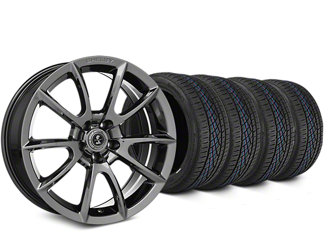Shelby Super Snake Style Chrome Wheel & Continental Extreme Contact DWS06 Tire Kit - 19x8.5 (15-18 All)