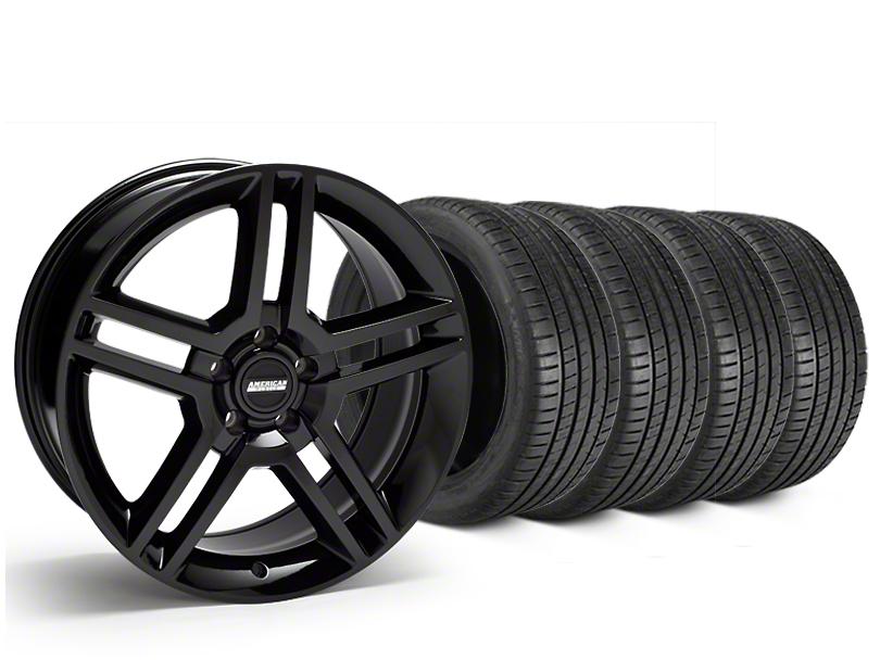 2010 GT500 Style Black Wheel & Michelin Pilot Super Sport Tire Kit - 19x8.5 (15-18 GT, EcoBoost, V6)