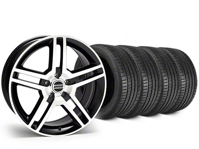 2010 GT500 Style Black Machined Wheel & Michelin Pilot Super Sport Tire Kit - 19x8.5 (15-17 GT, EcoBoost, V6)