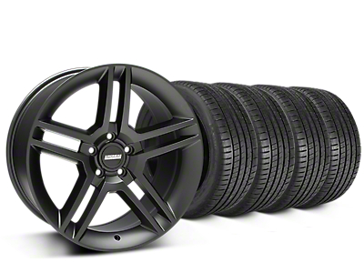 2010 GT500 Style Matte Black Wheel & Michelin Pilot Super Sport Tire Kit - 19x8.5 (15-17 GT, EcoBoost, V6)