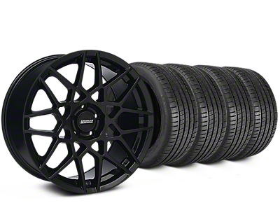2013 GT500 Style Gloss Black Wheel & Michelin Pilot Super Sport Tire Kit - 19x8.5 (15-18 GT, EcoBoost, V6)