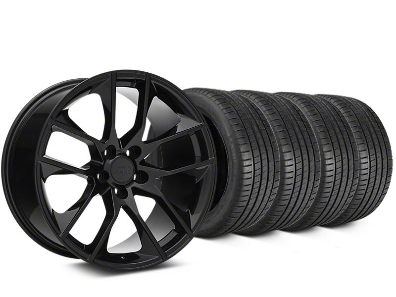 Magnetic Style Black Wheel & Michelin Pilot Super Sport Tire Kit - 19x8.5 (15-18 All)