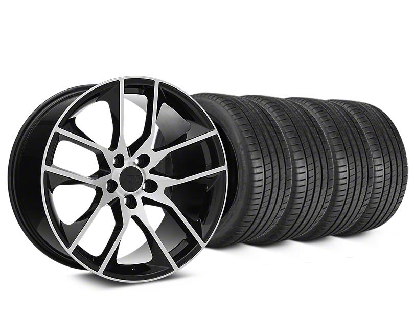 Magnetic Style Black Machined Wheel & Michelin Pilot Super Sport Tire Kit - 19x8.5 (15-18 GT, EcoBoost, V6)